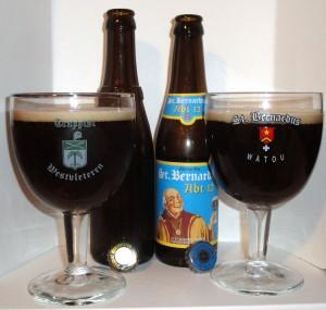 Westvleteren 12 and St Bernardus 12 side by side