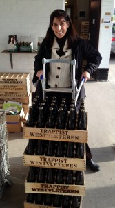 Ruth picking up some Westvleteren 12's