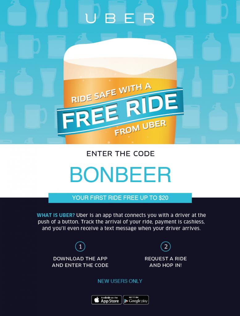 UBER - Bon Beer Discount
