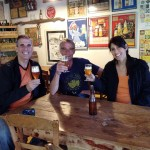 Ruth & Mike with brewer Daniel Thiriez at Brasserie Thiriez