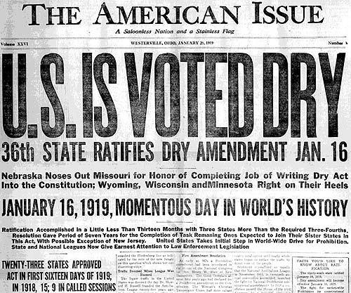 US is Voted Dry -The American Issue